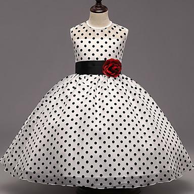 שמלה ללא שרוולים מנוקד ליציאה נקודה בנות