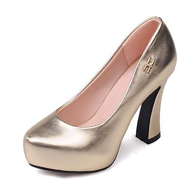 Femme Chaussures Paillette Similicuir Printemps Eté Automne Hiver Escarpin Basique Gros Talon Plateforme Pour Habillé Soirée & Evénement