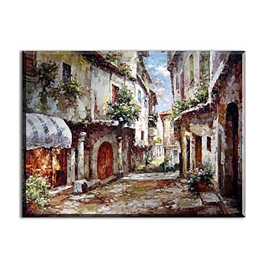Peint à la main Paysage Classique Style Moderne Traditionnel Réalisme Méditerranéen Pastoral Style européen Toile Peinture à l'huile