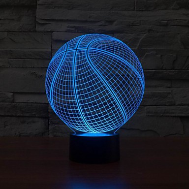 1 pieza Luz nocturna 3D USB Regulable 5 V