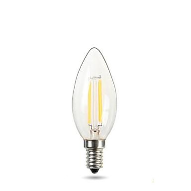 150-220 lm E14 Luces LED en Vela C35 2 Cuentas LED COB Decorativa Blanco Cálido 220-240 V / 1 pieza