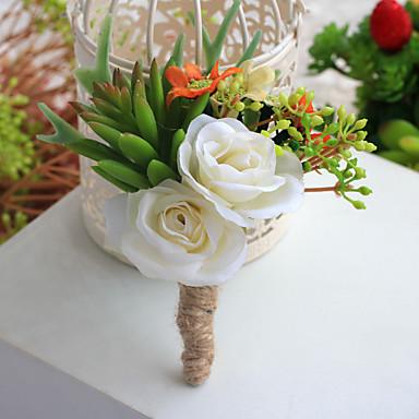 פרחי חתונה פרחי דש חתונה מסיבה\אירוע ערב מֶשִׁי 5.12