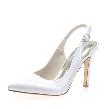 Femme Chaussures Satin Printemps / Eté Talon Aiguille Rose / Champagne / Ivoire / Mariage / Soirée & Evénement