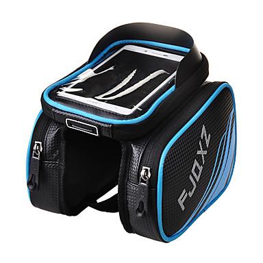 abordables Sacoches de Vélo-FJQXZ Sac de téléphone portable Sac Cadre Velo 4.2 pouce Ecran tactile Etanche Cyclisme pour iPhone 5/5S iPhone X iPhone XR Rouge Vert Bleu Cyclisme / Vélo / iPhone XS / iPhone XS Max / Zip étanche