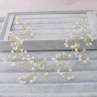 Imitert Perle pannebånd 1 Bryllup Spesiell Leilighet utendørs Hodeplagg