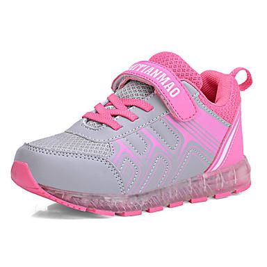 Para Meninas sapatos Couro Ecológico Tule Primavera Outono Conforto Tênis para Casual Fúcsia