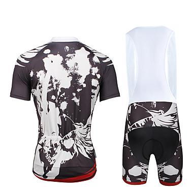 ILPALADINO Wielrenshirt met strakke shorts Heren Unisex Korte Mouw Fietsen PakkenSneldrogend Ultra-Violetbestendig Ademend Compressie