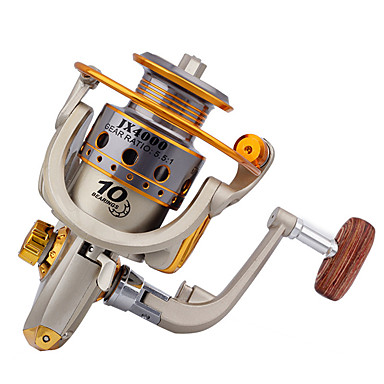 Spinnrollen 5.5:1 10 Kugellager Austauschbar Seefischerei / Spinn / Fischen im Süßwasser / Angeln Allgemein-JX4000 #