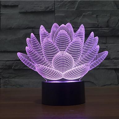 Lotus Blume Touch Dimmen 3d führte Nachtlicht 7colorful Dekoration Atmosphäre Lampe Neuheit Beleuchtung Licht
