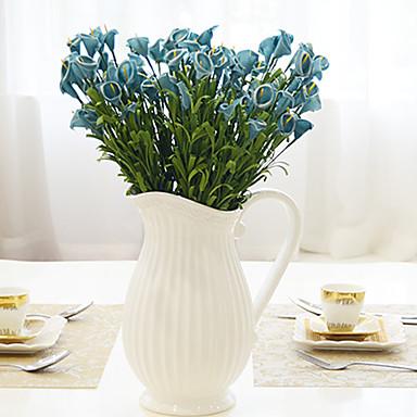 1 1 Ramo Isopor Lírios Flor de Mesa Flores artificiais 18.5inch/47cm