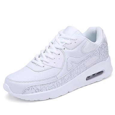Sneakers-Tyl-Komfort-Dame-Rød Hvid-Udendørs Fritid Sport-Flad hæl