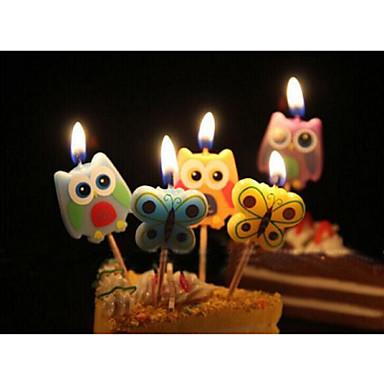 Verjaardag Party Accessoires 5Stuk/Set Kaarsbedankjes Eco-Vriendelijk Materiaal / Aluminiumlegering Butterfly Thema Other