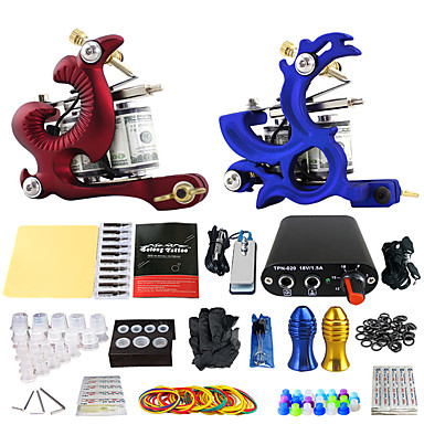 Solong Tattoo Tattoo Machine Professional Tattoo Kit, 2 pcs Tattoo Machines - 2 alloy machine liner & shader Professional