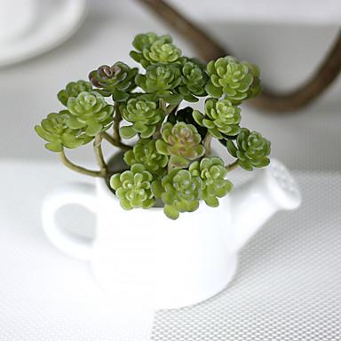 1Branch 1 Ast Kunststoff Pflanzen Tisch-Blumen Künstliche Blumen 3.93inch/10cm