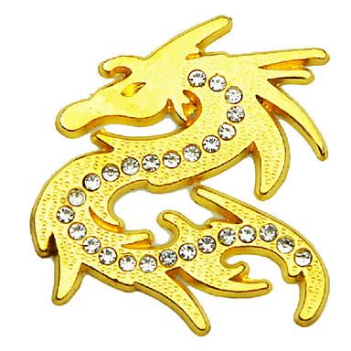 bil klistremerke, personlighet med diamant metall mot metall lovende drage klistremerker