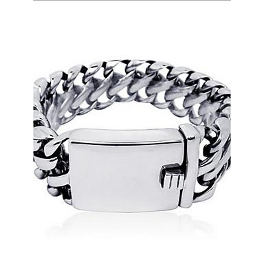 Heren Dames Armbanden met ketting en sluiting Modieus PERSGepersonaliseerd Punk-stijl Titanium Staal Sieraden Sieraden VoorDagelijks