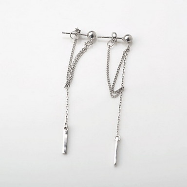 abordables Boucle d'Oreille-Femme Mode Argent sterling Des boucles d'oreilles Bijoux Argent Pour Quotidien Décontracté