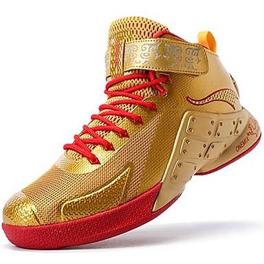 Herre sko Lær Vår Høst Komfort Sportssko Basketball Sølv Gylden