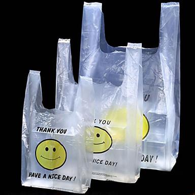 pe morgenmad vest taske smiley tasker supermarked indkøbsposer pakning gave spot skibsfart to pakker en kasse