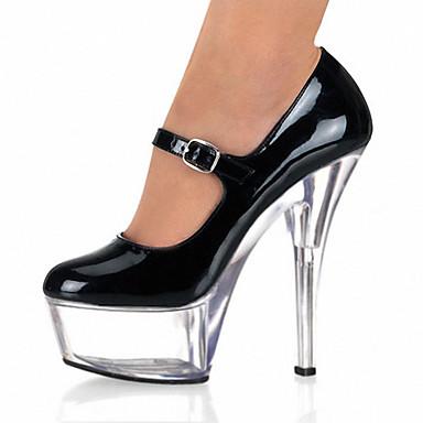 Mariage Up Soirée Chaussures Talon Plateforme Chaussures Evénement amp; de Homme club Aiguille Plateau Habillé 05176155 A Noir Light Transparent dgwxqnHCnE