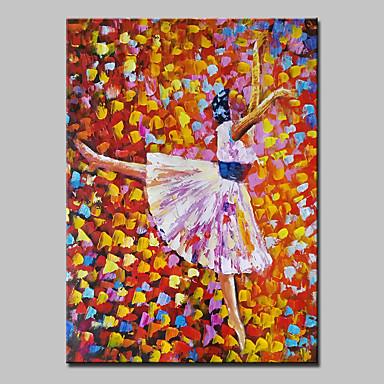 håndmalede moderne abstrakt ballet pige oliemaleri på lærred væg kunst med strakte ramme klar til at hænge