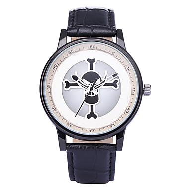 Heren Unieke creatieve horloge Polshorloge Modieus horloge Kwarts / PU Band Informeel Schedel Zwart Wit Paars