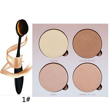 4 Øjenskyggepalette Tør Øjenskygge palet Pudder Daglig makeup