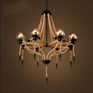 8-luz Lámparas Colgantes Luz Downlight Acabados Pintados Metal Vidrio Mini Estilo 110-120V / 220-240V Bombilla no incluida / E26 / E27