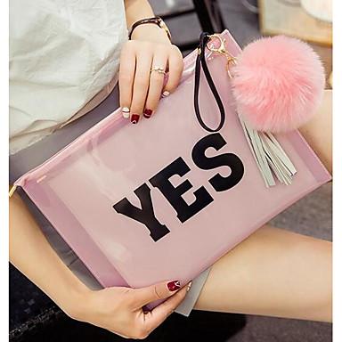 Damer PVC Fritid Udendørs Skuldertaske Hvid Lys pink