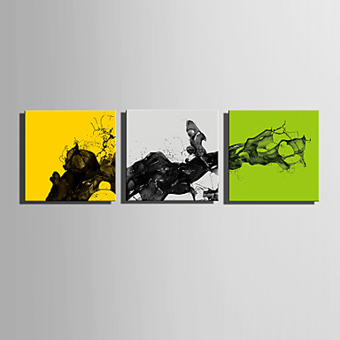 Canvas Set Abstract Europese Stijl,Drie panelen Canvas Vierkant Print Art wall Decor For Huisdecoratie