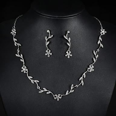 Damen Schmuck-Set Ohrringe Halsketten - Niedlich Party Modisch Silber Braut-Schmuck-Sets Halskette / Ohrringe Für Hochzeit Party