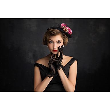 tulle flax net fascinators headpiece estilo feminino clássico