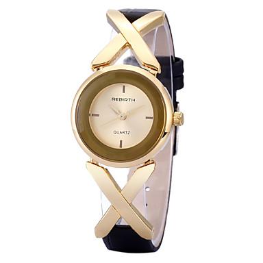 REBIRTH Damen Armbanduhr Quartz Schlussverkauf / PU Band Analog Freizeit Modisch Schwarz - Rotgold Schwarz / Silber Weiß / Silber