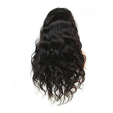 Menneskehår Blonde Front Paryk Krop Bølge 130% Massefylde 100 % håndbundet Afro-amerikansk paryk Natural Hairline Medium Lang Dame