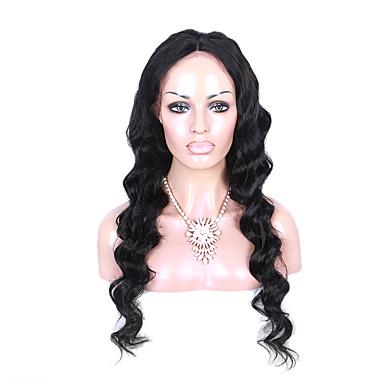 Aidot hiukset Full Lace Peruukki Runsaat laineet 130% Tiheys 100% käsinsidottu Afro-amerikkalainen peruukki Luonnollinen hiusviiva Lyhyt