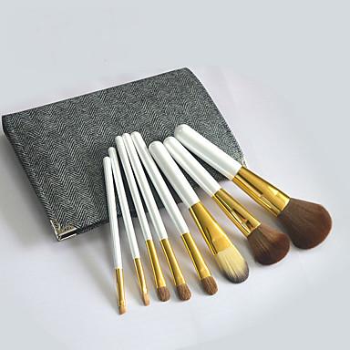8stk Make-up pensler Professionel Brush Sets Gedehårs Børste Fuld Dækning Træ