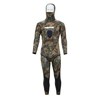 男性用 3mm フルウェットスーツ 人間工学デザイン ネオプレン 潜水服 半袖 ダイビングスーツ ショートパンツ-潜水