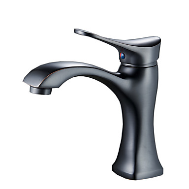 Moderne Basin Termostatisk Keramik Ventil Et Hul Enkelt håndtag Et Hul Olie-gnedet Bronze, Håndvasken vandhane
