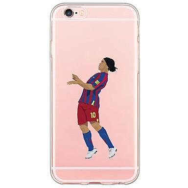 Capinha Para Apple iPhone X iPhone 8 iPhone 6 iPhone 6 Plus Ultra-Fina Translúcido Capa traseira Desenho Animado Macia TPU para iPhone X