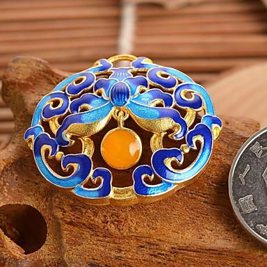DIY koruja sinikopioinnilla tyyli metalliseos viehätys