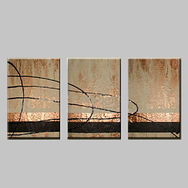 El-Boyalı Soyut Fantezi Yatay, Modern Tuval Hang-Boyalı Yağlıboya Resim Ev dekorasyonu Üç Panelli