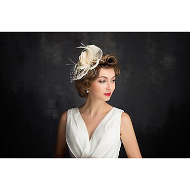 Tüll Flachs Federnetz Fascinator Kopfschmuck klassischen weiblichen Stil