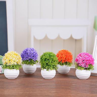 1 1 Branch Plastikk Planter Bordblomst Kunstige blomster 4.7*2.7inch/12*7cm