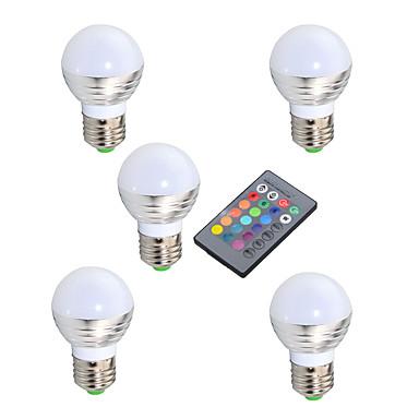 billige Elpærer-ywxlight® e27 e14 gu10 3w 200-300lm rgb ledet lampe 16 farge magisk ledet natt lys lampe dimbar scene lys 24-knapps fjernkontroll