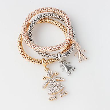 Dame Wrap Armbånd Mode Legering Cirkelformet Sølv Gylden Rose Guld Smykker For Bryllup 1 Sæt