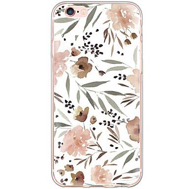 Capinha Para Apple iPhone X iPhone 8 iPhone 6 iPhone 6 Plus Anti-poeira Antichoque Estampada Capa traseira Flor Rígida PC para iPhone X