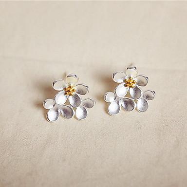 Naisten Niittikorvakorut Muoti Sterling-hopea Flower Shape Korut Käyttötarkoitus Päivittäin