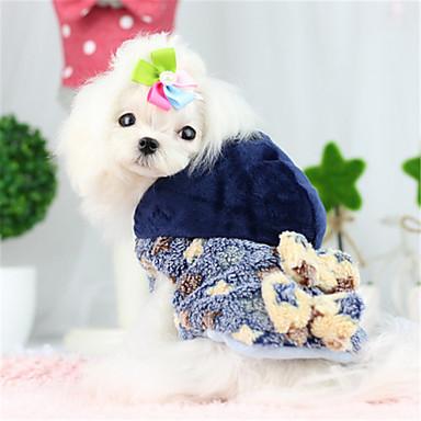 Hond Jassen Hoodies Hondenkleding Casual/Dagelijks Houd Warm Kleurenblok Meetkundig Geel Blauw