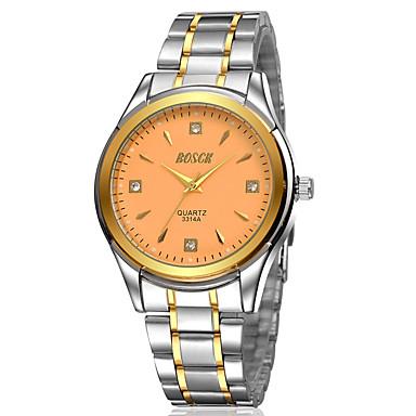 Heren Modieus horloge Kwarts Waterbestendig Legering Band Vrijetijdsschoenen Meerkleurig Wit Zwart Gouden