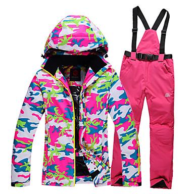 GQY® Dame Skijakke og bukser Vandtæt, Hold Varm, Vindtæt Ski / Vintersport Polyester Tøjsæt Skitøj